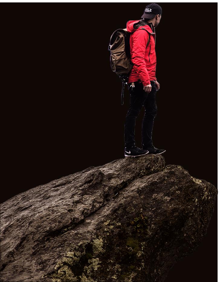 Guy on a Rock